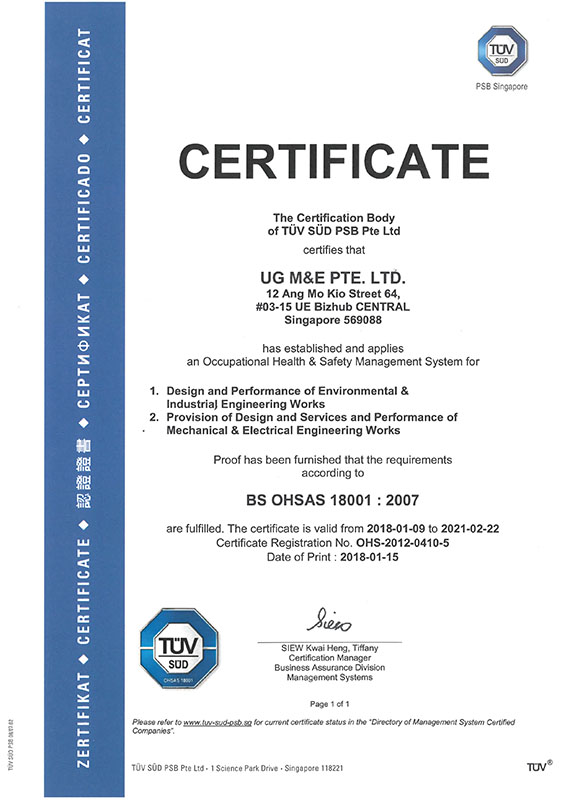UGME_OHSAS18001 Certification